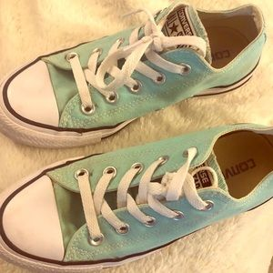 Men's size for woman's size 6 teal converse
